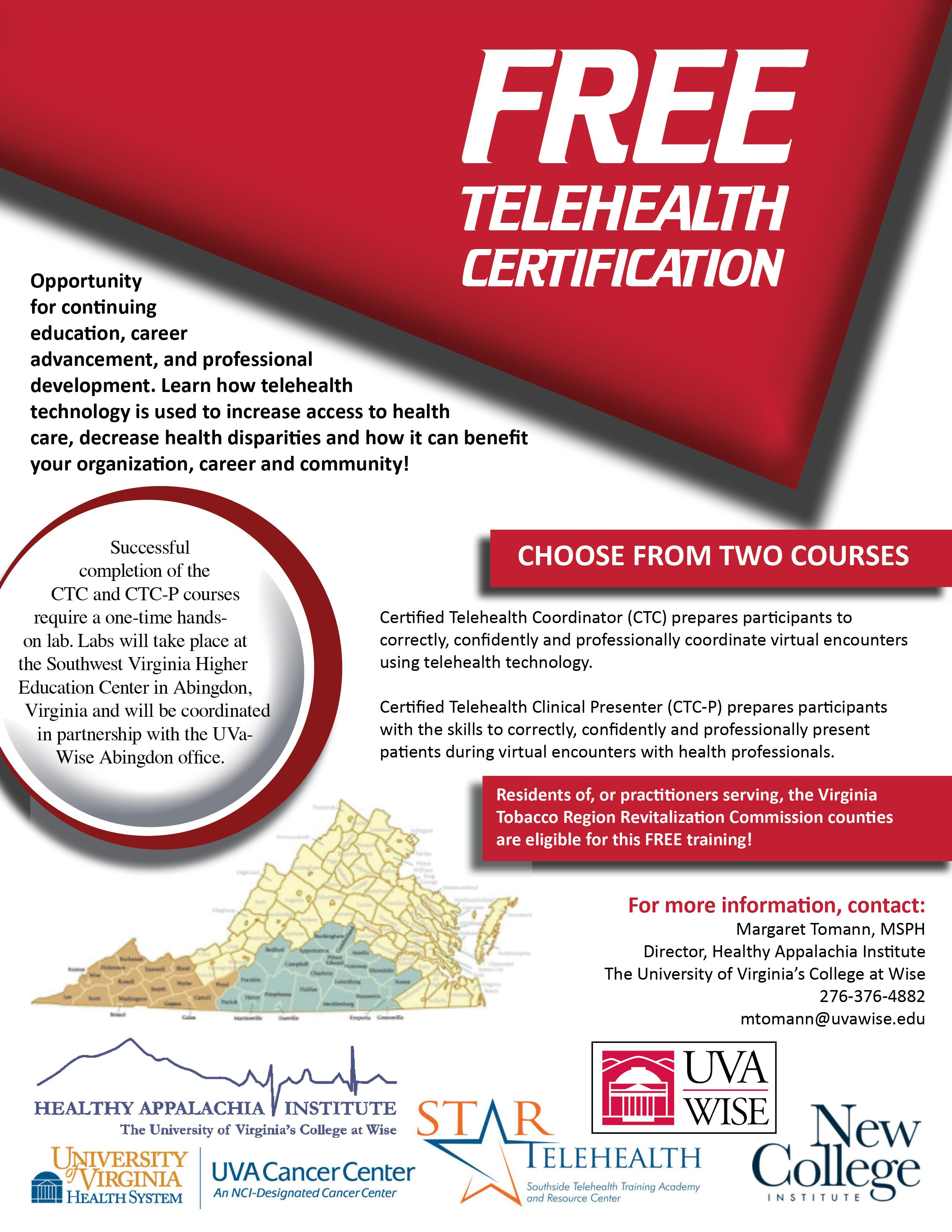 Telehealth certification southwest virginia graduate medical telehealth certification southwest virginia graduate medical education 1betcityfo Choice Image
